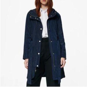 Andrew Marc | Navy Raincoat With Hood 8